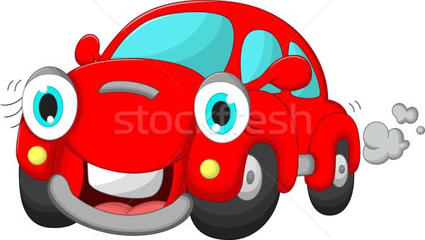 Cute автомобилей Cartoon весело игрушку гонка Сток-фото © jawa123