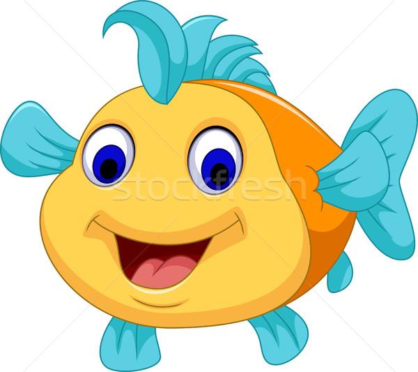 funny fish cartoon smiling Stock photo © jawa123