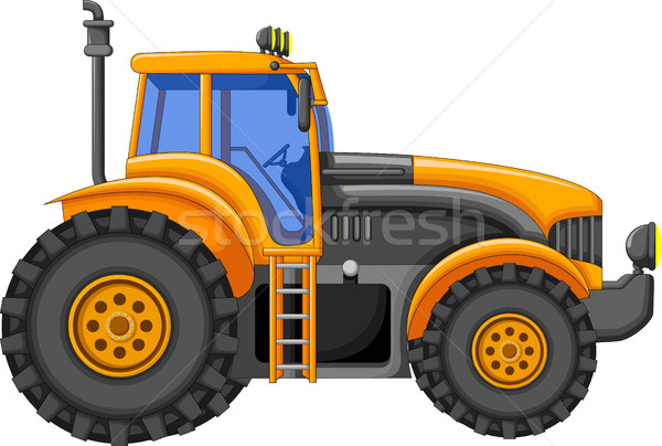 Jaune tracteur cartoon design construction technologie Photo stock © jawa123