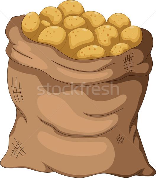 collection potato cartoon on the sack Stock photo © jawa123