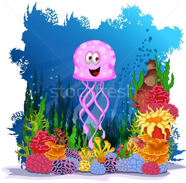 смешные медуз морем жизни пляж ребенка Сток-фото © jawa123