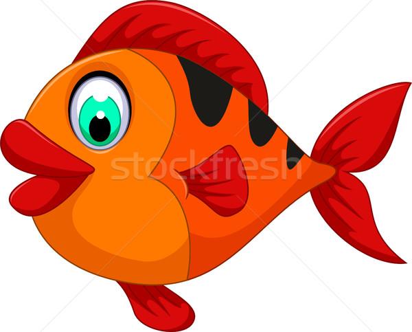 funny cute fish cartoon for you design Stock photo © jawa123