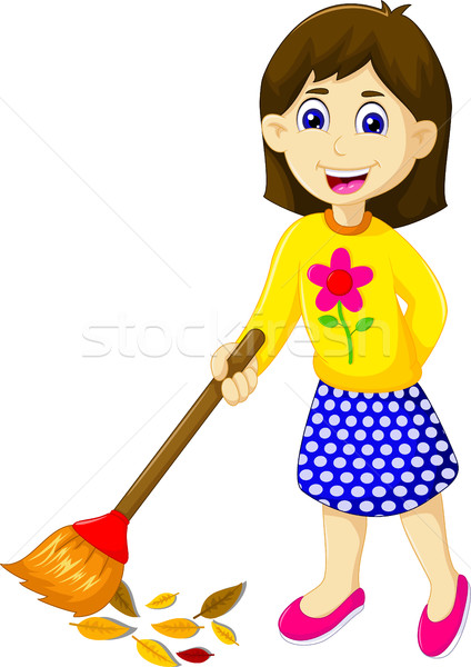 funny mother cartoon sweeping Stock photo © jawa123