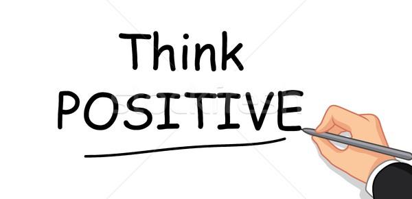hand writing Think Positive Stock photo © jawa123