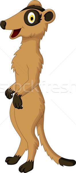 Cute meerkat cartoon Stock photo © jawa123
