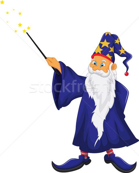 смешные Дед Мороз Cartoon лице пространстве время Сток-фото © jawa123
