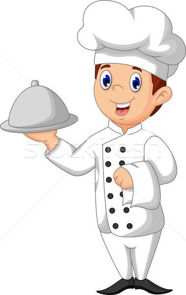 Cute повар Cartoon продовольствие человека ресторан Сток-фото © jawa123