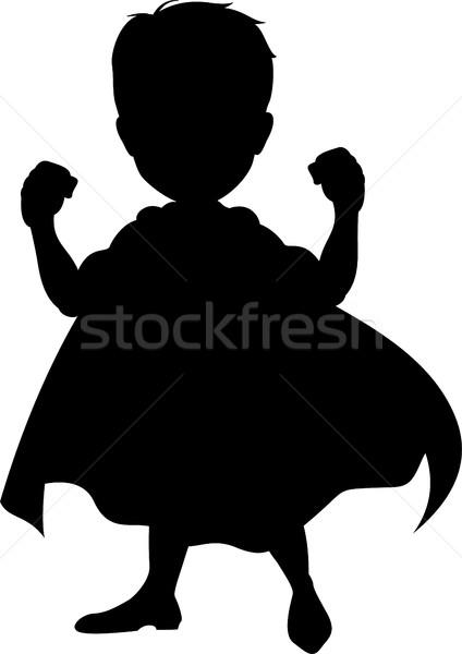 Silhouette of a superhero Stock photo © jawa123