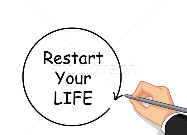 hand writing Restart your life Stock photo © jawa123