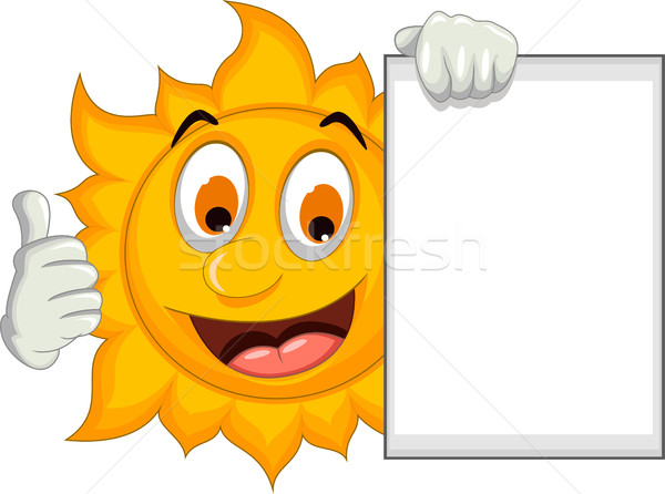 счастливым солнце Cartoon большой палец руки вверх Сток-фото © jawa123