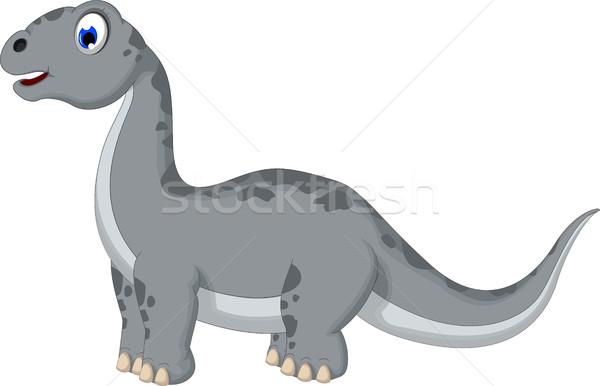 cute dinosaur cartoon Stock photo © jawa123