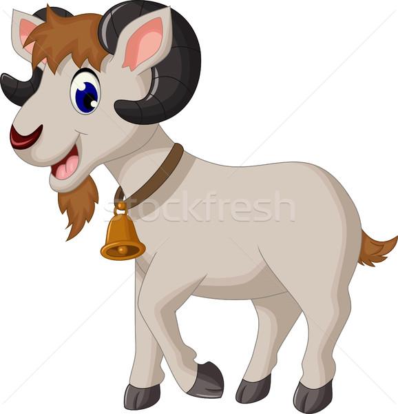 cartoon goat smiling Stock photo © jawa123