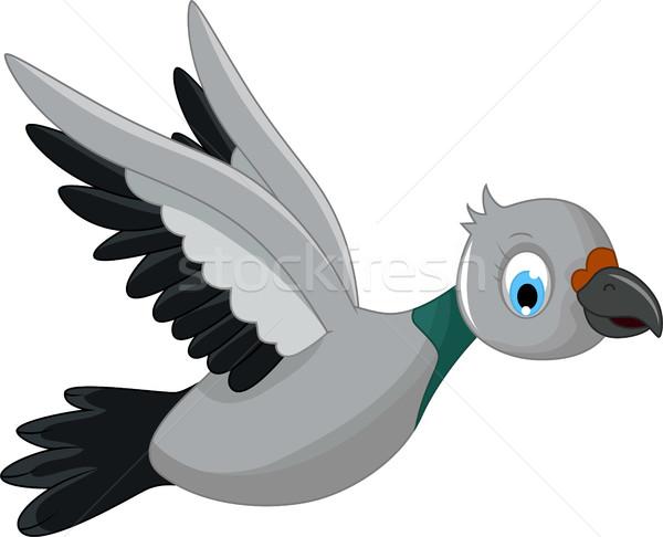 cute bird cartoon flying Stock photo © jawa123