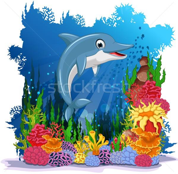 смешные дельфин морем жизни улыбка рыбы Сток-фото © jawa123