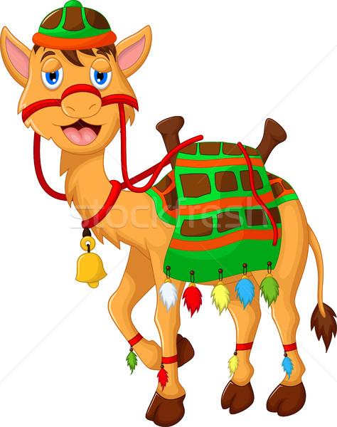 Bonitinho camelo desenho animado caminhada cara deserto Foto stock © jawa123
