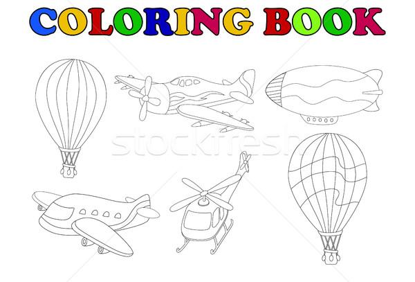 coloring book of air transportation set cartoon Stock photo © jawa123