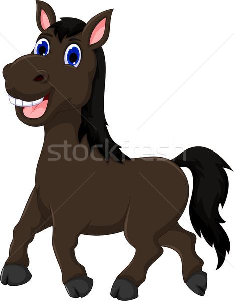 funny horse cartoon walking Stock photo © jawa123
