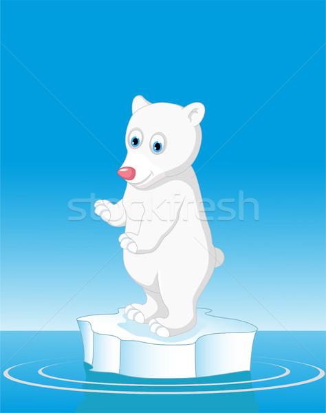 Grappig ijsbeer cartoon baby liefde sneeuw Stockfoto © jawa123