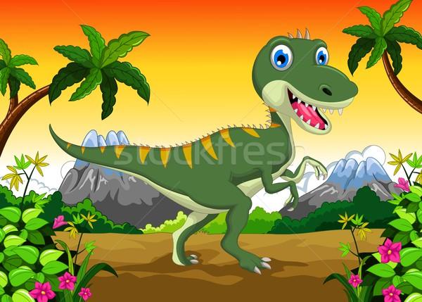 Cute dinosaur cartoon for your design Stock photo © jawa123