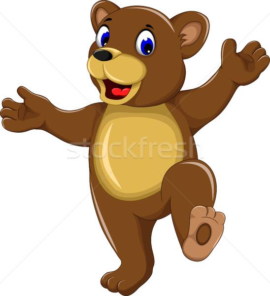 happy bear cartoon for you design Stock photo © jawa123