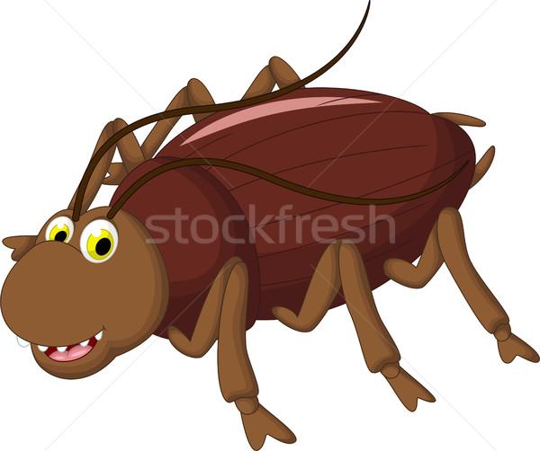 Cucaracha Cartoon diseno feliz naturaleza salud Foto stock © jawa123