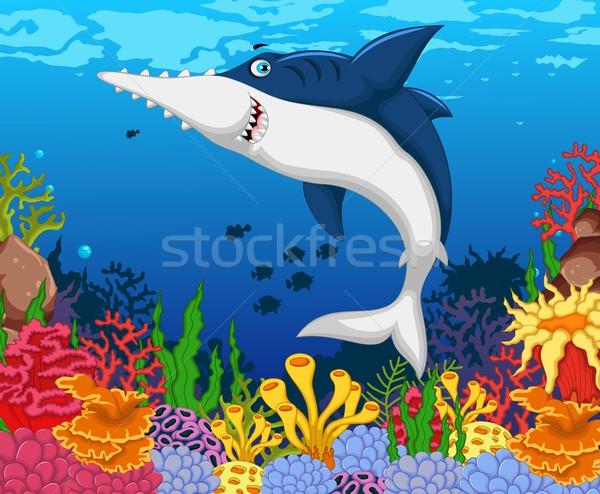 Grappig haai schoonheid zee leven natuur Stockfoto © jawa123