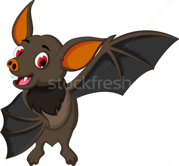 smiling bat cartoon posing Stock photo © jawa123