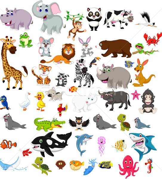 big animal cartoon set Stock photo © jawa123