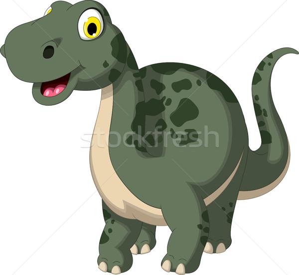 Stock fotó: Aranyos · dinoszaurusz · rajz · pózol · mosoly · test