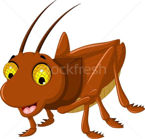 cute grasshopper cartoon for you design Stock photo © jawa123