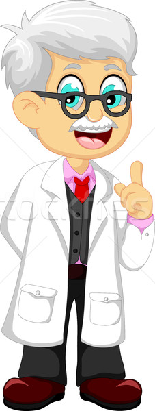 cute doctor cartoon pointing Stock photo © jawa123