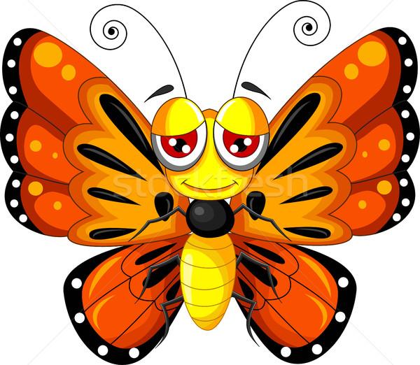funny butterfly cartoon Stock photo © jawa123