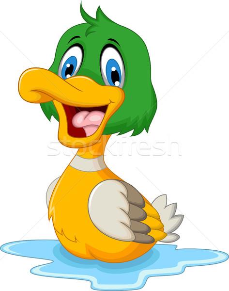 funny baby duck cartoon Stock photo © jawa123