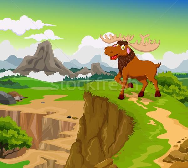 面白い ムース 漫画 美 山 風景 ストックフォト © jawa123