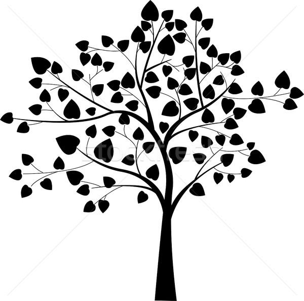 black tree silhouette Stock photo © jawa123