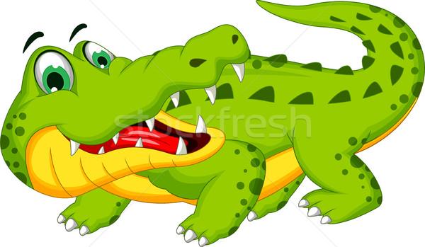 funny crocodile cartoon posing vector illustration ... - photo#20