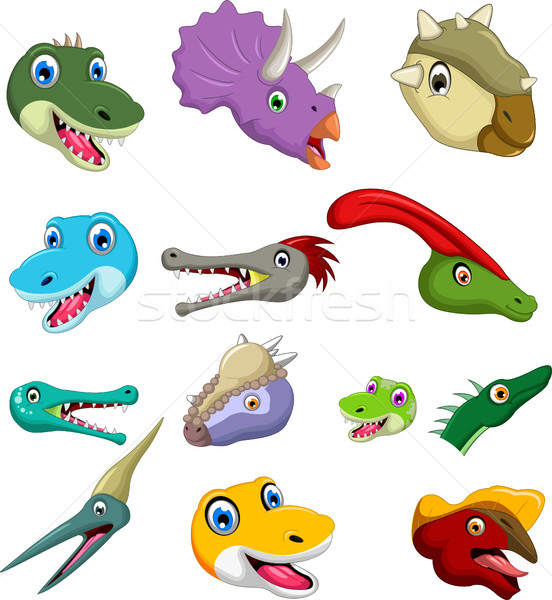 Dinosaur head cartoon collection set for you design Stock photo © jawa123