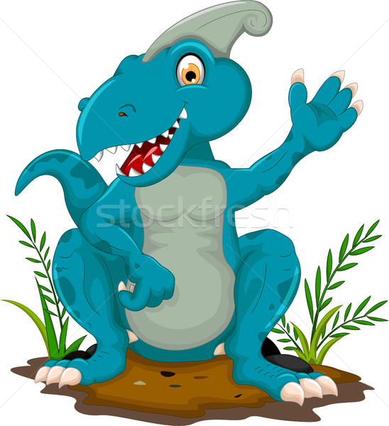 cute Tyrannosaurus cartoon sitting for you design Stock photo © jawa123