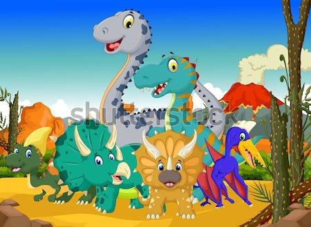 funny dinosaur cartoon set for you design Stock photo © jawa123