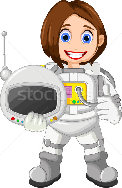 cute Cartoon Astronaut thumb up Stock photo © jawa123