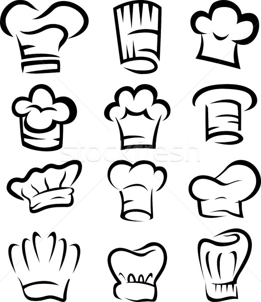 collection of chef hat cartoon Stock photo © jawa123