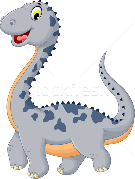 Aranyos dinoszaurusz rajz pózol mosoly test Stock fotó © jawa123