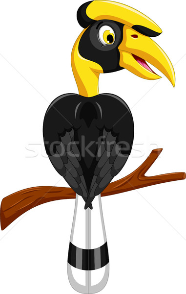 Aranyos duda számla rajz szárny vektor Stock fotó © jawa123