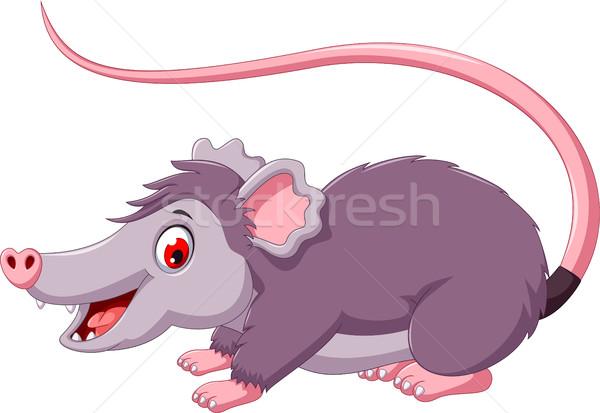 cute opossum cartoon posing Stock photo © jawa123