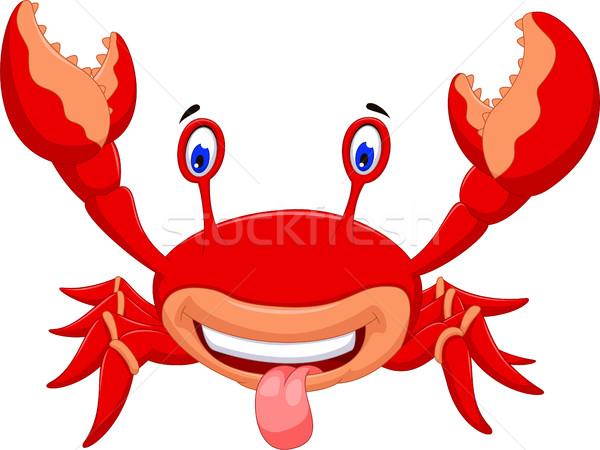 Drăguţ crab desen animat proiect plajă fericit Imagine de stoc © jawa123