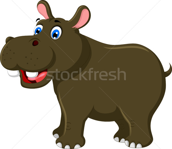 cute hippo cartoon for you design Stock photo © jawa123
