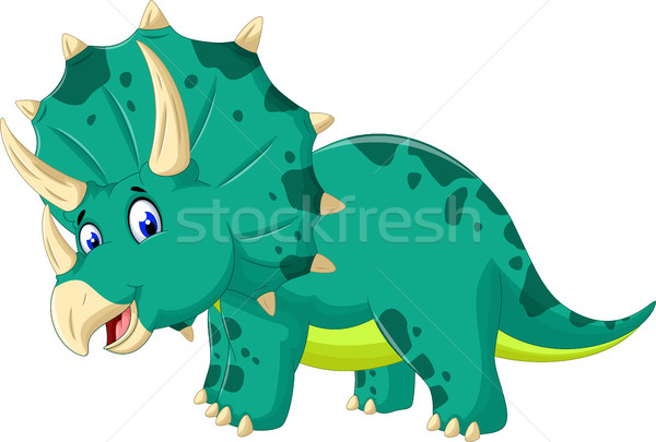 cute Triceratops cartoon for you design Stock photo © jawa123