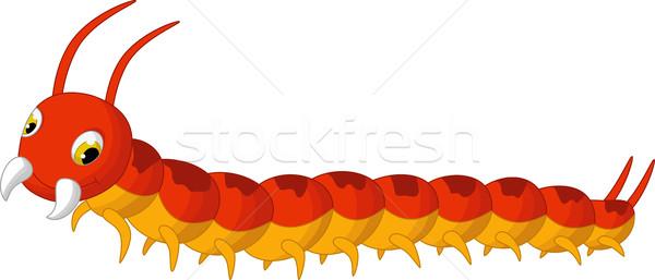 Desenho animado posando feliz vermelho correr animal Foto stock © jawa123