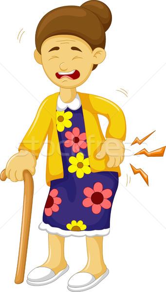 Cartoon edad abuela cara pintura Asia Foto stock © jawa123