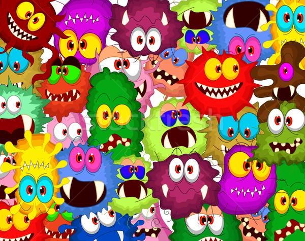 Cartoon bacteria collection set for you design Stock photo © jawa123
